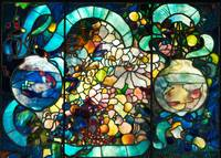 Louis Comfort Tiffany, Tiffany & Co.~Flower, Fish