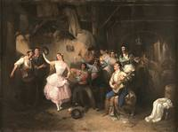 Manuel Rodríguez Guzmán~Dancing in the tavern