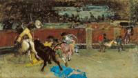Marià Fortuny~Bullfight. Wounded Picador