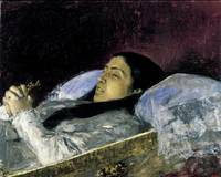 Marià Fortuny~Miss Del Castillo on her Deathbed