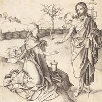 Martin Schongauer~Christ Appearing to Mary Magdale