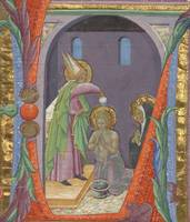 Master of the Osservanza Triptych~Initial L The Ba