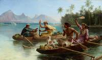 Nicholas Chevalier~Race to the market, Tahiti