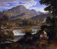 Joseph Anton Koch~Waterfalls at Subiaco