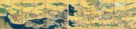 Kaiho Yusetsu~Folding Screen with Design of the Sc