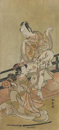 Katsukawa Shunshō~The Actors Arashi Sangoro II as