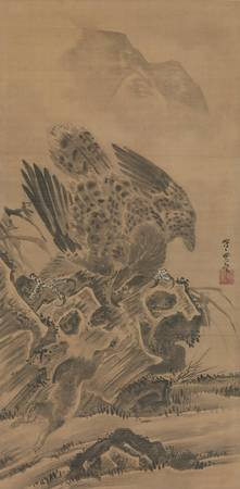 Kawanabe Kyōsai~兎を追う鷲図Eagle Pursuing Rabbit