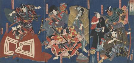 Kunisada~Buckets of Good Wishes Year after Year Th