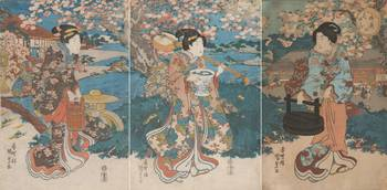 Kunisada~Cherry Blossom Garden Party