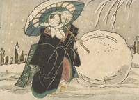 Kunisada~Egoyomi A beauty in the snow