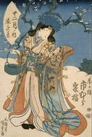 Kunisada~The Actor Ichimura Kakitsu in a Female Ro
