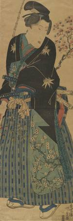 Kunisada~Young Man Looking at Cherry Blossom