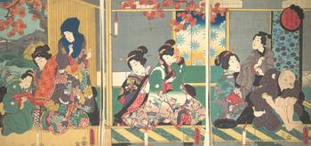 Kunisada~重陽後の月宴 十二月ノ内Banquet of the Next Full Moon