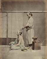 Kusakabe Kimbei~Hair Dressing in Japanese Style