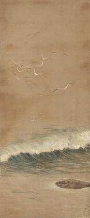Late 19th century~Painting of White Herons and Lan