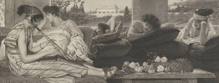 Lawrence Alma-Tadema~The Siesta