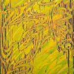 """Abstract Yellow Green Painting #8"" by Barnstable"