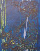 Abstract Dark Blue #5
