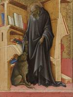 Lorenzo Monaco~Saint Jerome in his Study