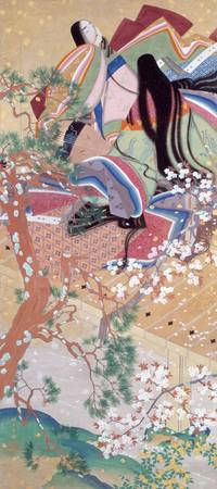 Matsuoka Eikyū~Court Ladies in Spring Clothing, in