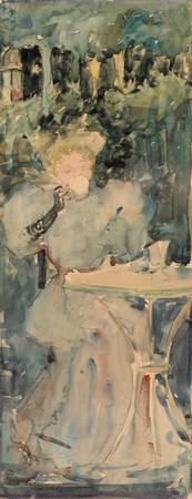 Maurice Prendergast~Woman Drinking Tea