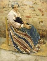 Max Liebermann~An Old Woman with Cat