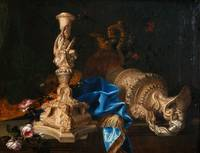 Meiffren Conte~Still life with candlestick of the