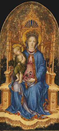 Michele Giambono~Madonna and Child Enthroned