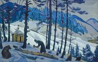 Nicholas Roerich~Sergius, the Builder. From the «B