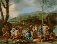 Nicolas Poussin~Saint John Baptizing in the River
