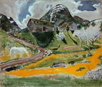 Nikolai Astrup~The white Horse in Spring