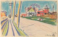 Oscar Florianus Bluemner~Street in the Bronx