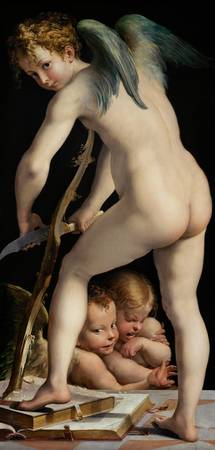 Parmigianino~Bow-carving Amor