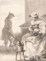 Paul Sandby~London Cries Shoe Cleaner