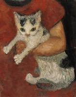 Paula Modersohn-Becker~Cat in a child arm