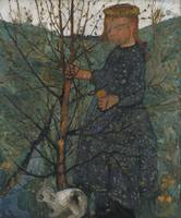 Paula Modersohn-Becker~Child with rabbit