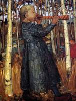 Paula Modersohn-Becker~Trumpeting Girl in the Birc