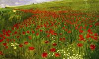 Pál Szinyei Merse~Meadow with Poppies