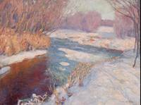 Petras Kalpokas~Rivulet in Winter