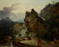 Philip James de Loutherbourg~Landscape with Boar H