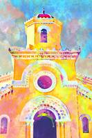 Abstract Watercolor - Cuban Church
