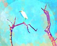 Abstract Watercolor - Grumpy Egret I