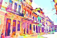 Abstract Watercolor - Havana, Cuba