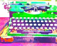 Abstract Watercolor - VintageTypewriter