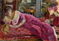 Pierre Bonnard~Misia on a Divan