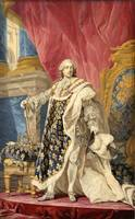 Pierre François Cozette~Portrait of Louis XV in hi