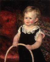 Pierre-Auguste Renoir~Child with Hoop