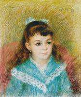Pierre-Auguste Renoir~Portrait of a Young Girl (El
