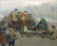 Ralph Hedley~Paddy's Clothes Market, Sandgate