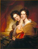 Rembrandt Peale~The Sisters (Eleanor and Rosalba P